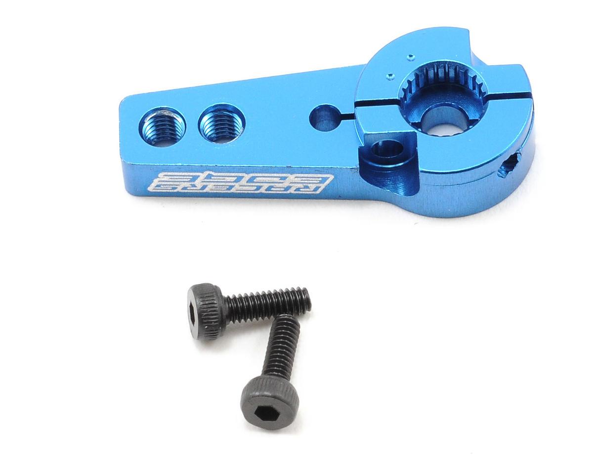 Racers Edge Aluminum Pro Adjustable Single Arm Hitec Servo Horn (Blue)