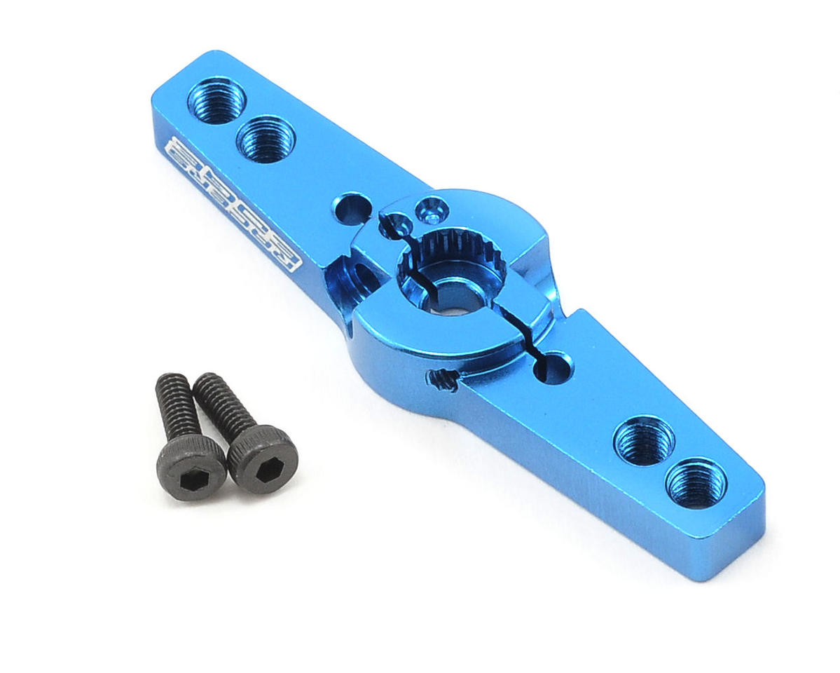 Racers Edge Aluminum Pro Adjustable Double Arm JR Servo Horn (Blue)