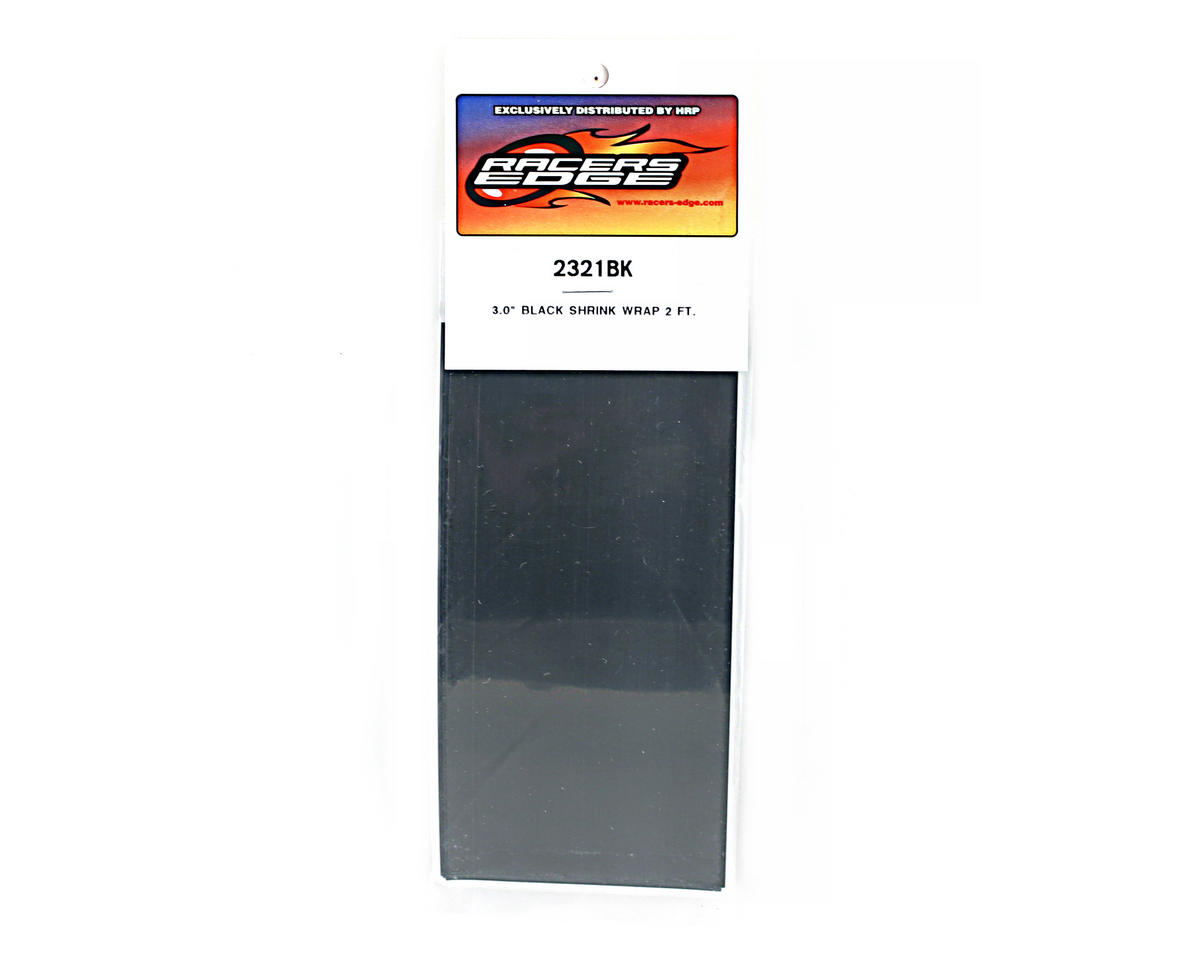 "Racers Edge Black Battery Shrink Wrap (3"" wide, 2' long)"