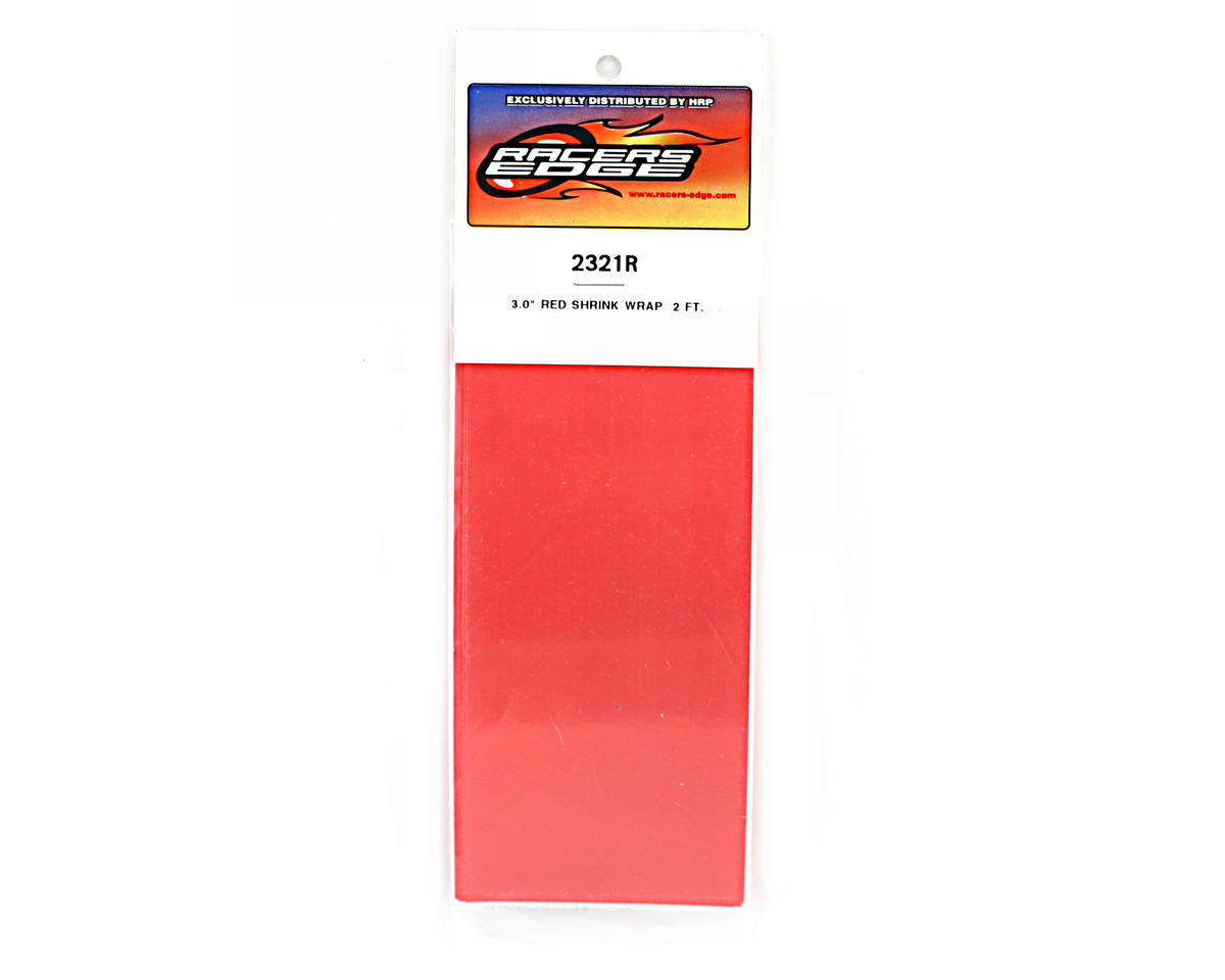 "Racers Edge Red Battery Shrink Wrap (3"" wide, 2' long)"