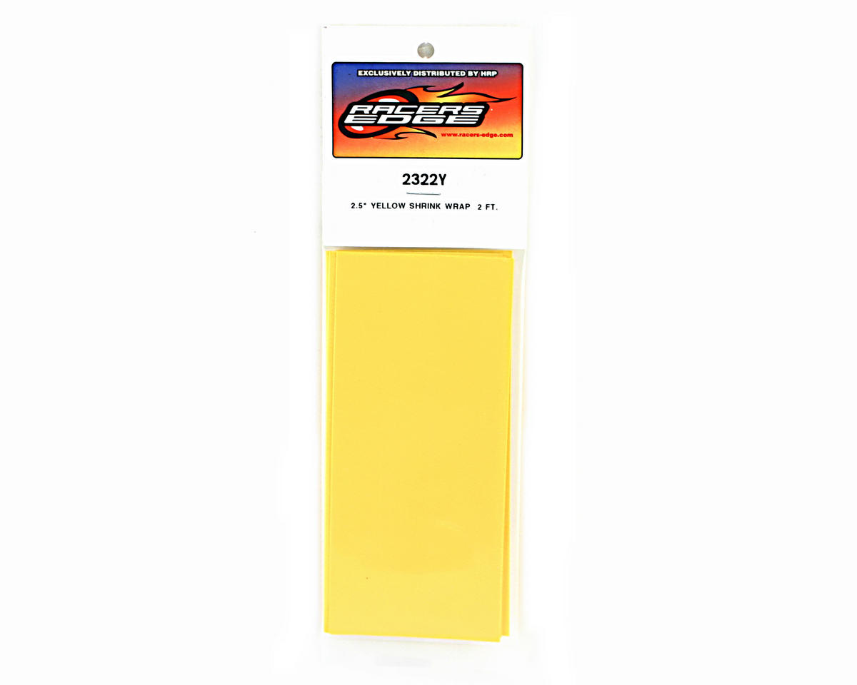 "Racers Edge Yellow Battery Shrink Wrap (2.5"" wide, 2' long)"