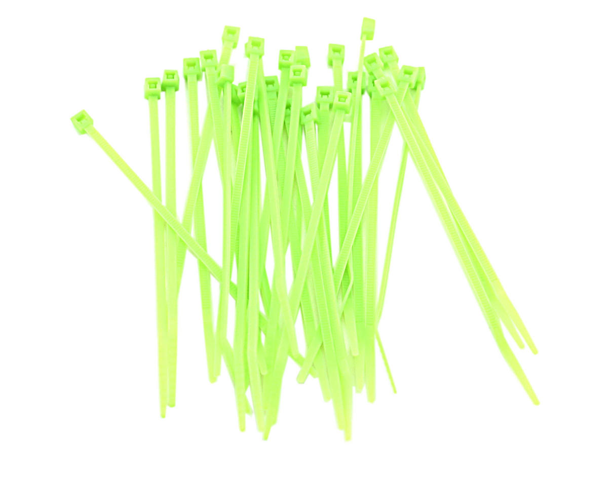 "Racers Edge 4"" Flourescent Green Zip Tie Wraps (30)"