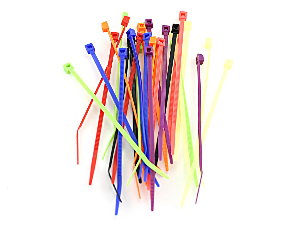 "Racers Edge 4"" Assorted Color Zip Tie Wraps (30)"