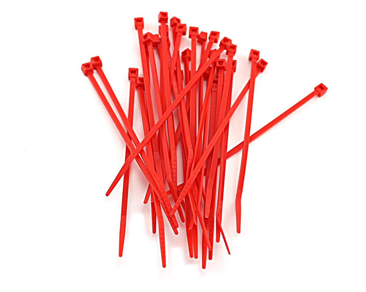 "Racers Edge 4"" Hot Red Zip Tie Wraps (30)"