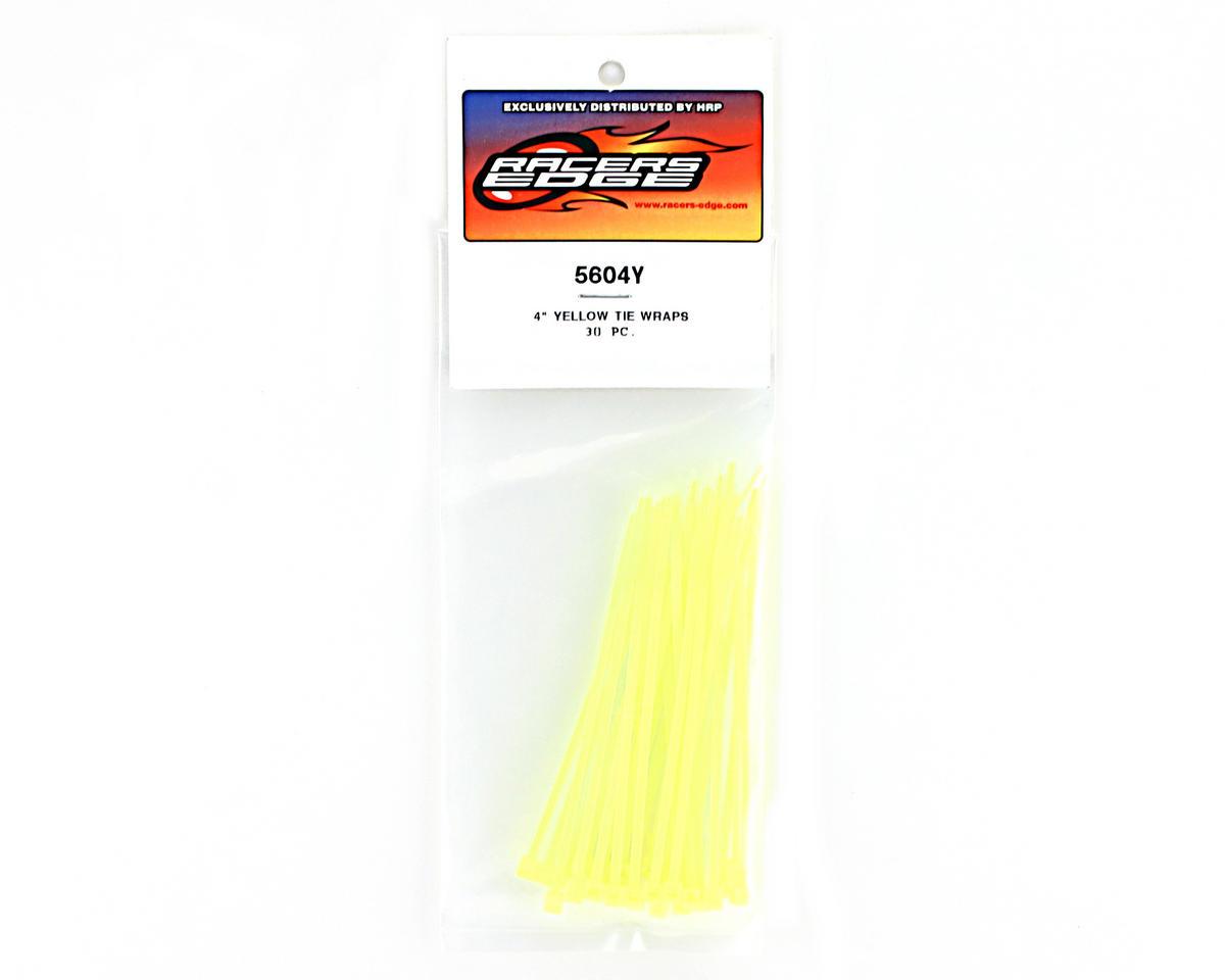 "Racers Edge 4"" Yellow Zip Tie Wraps (30)"