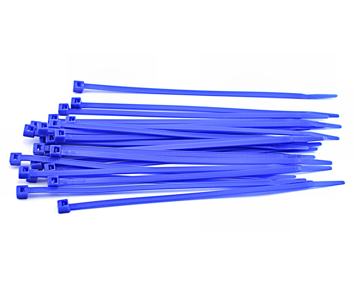 "Racers Edge 7.5"" Hot Blue Zip Tie Wraps (25)"