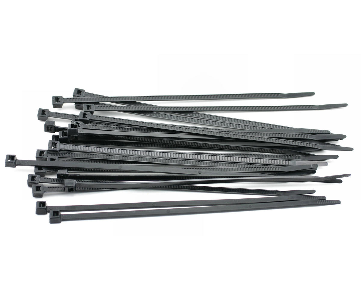 "7.5"" Black Zip Tie Wraps (25) by Racers Edge"