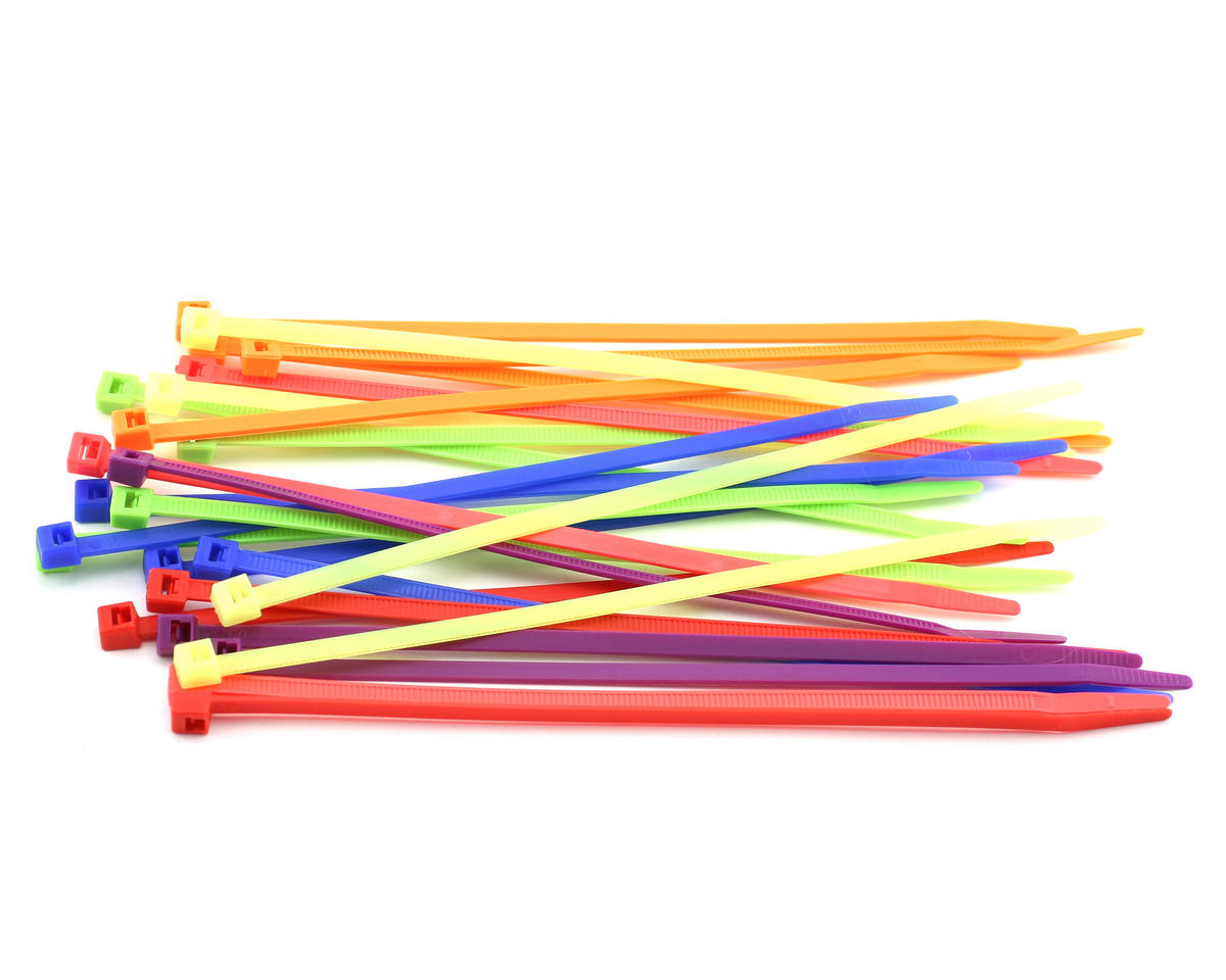 "7.5"" Assorted Color Zip Tie Wraps (25) by Racers Edge"