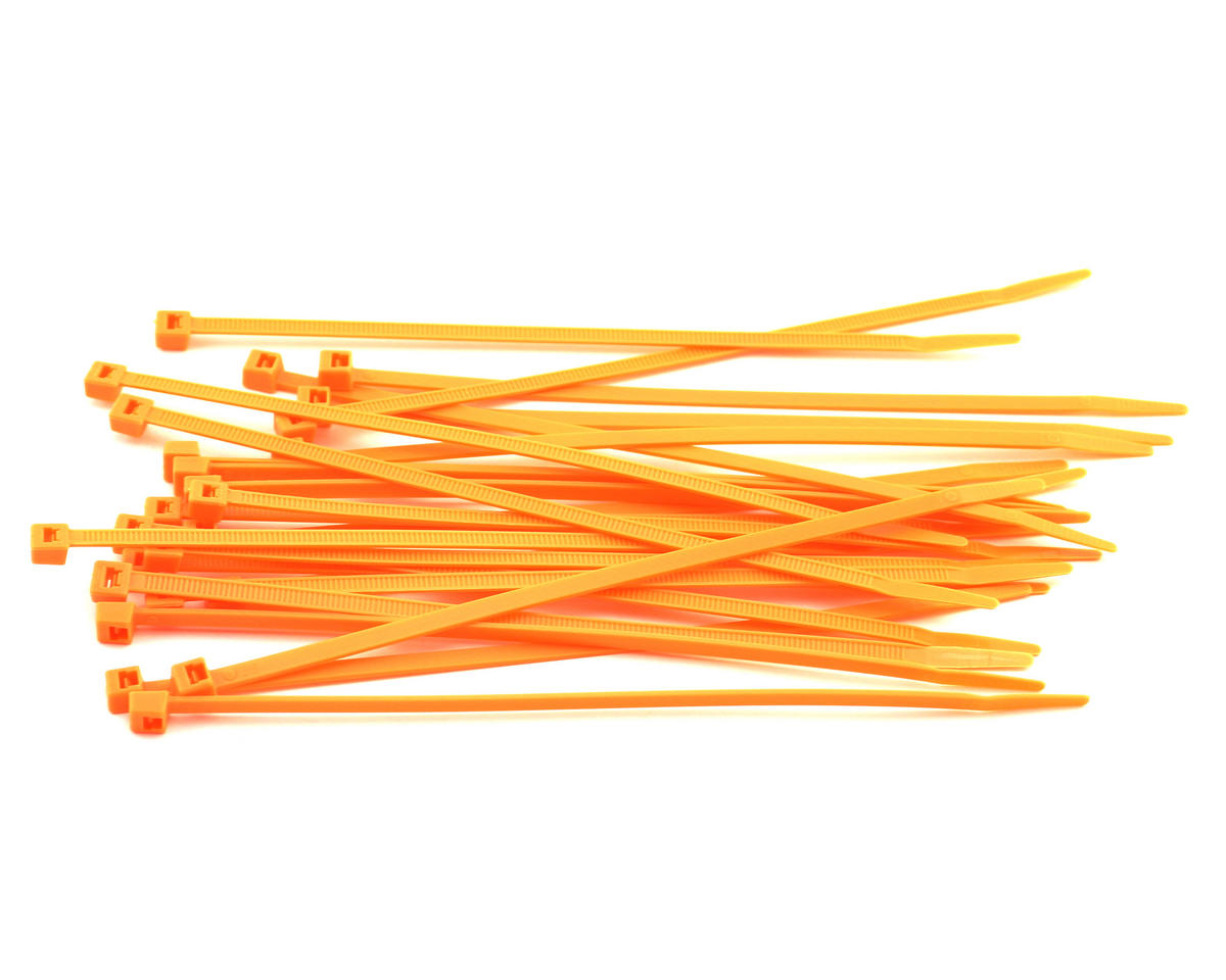 "Racers Edge 7.5"" Flourescent Orange Zip Tie Wraps (25)"