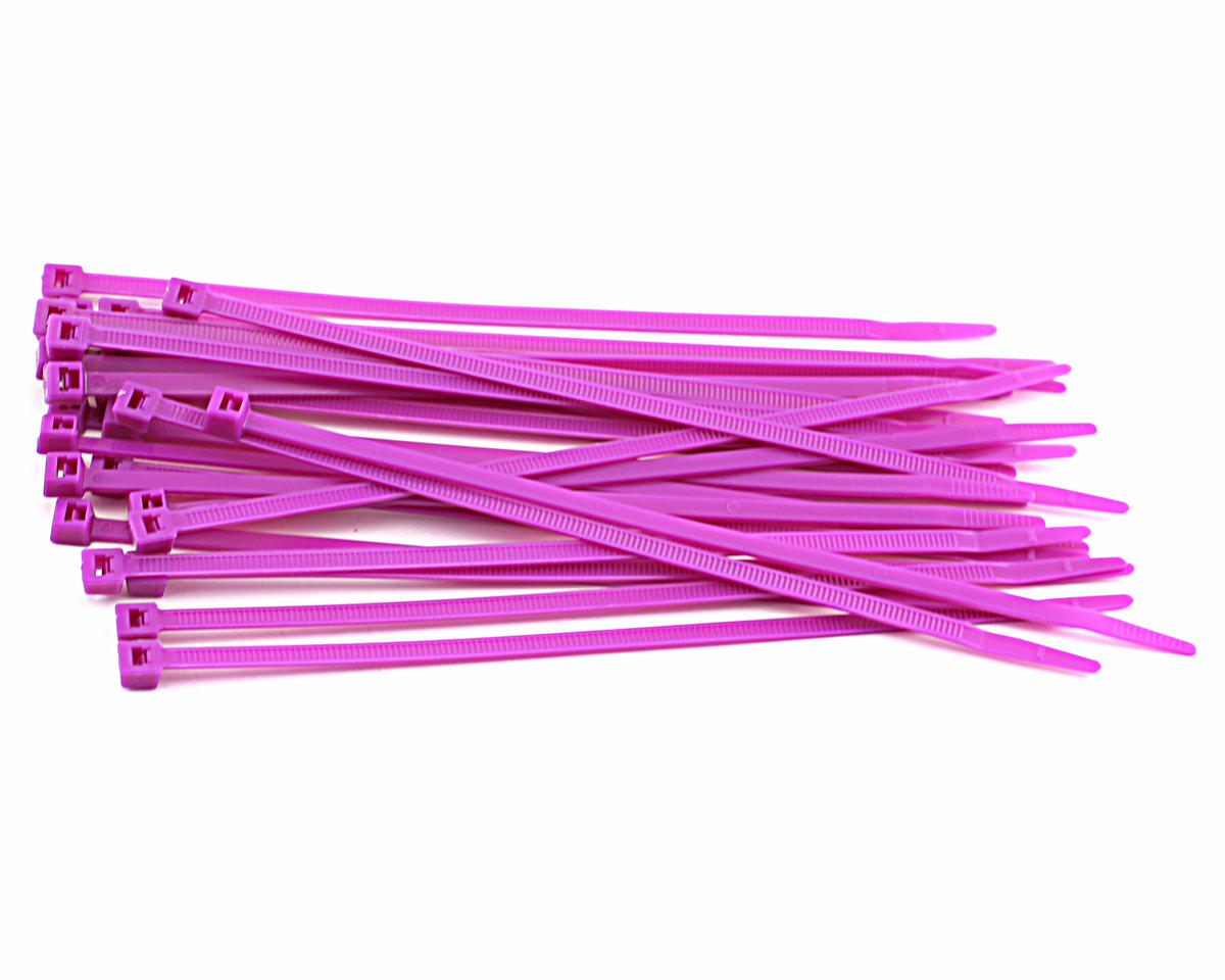 "Racers Edge 7.5"" Purple Zip Tie Wraps (25)"