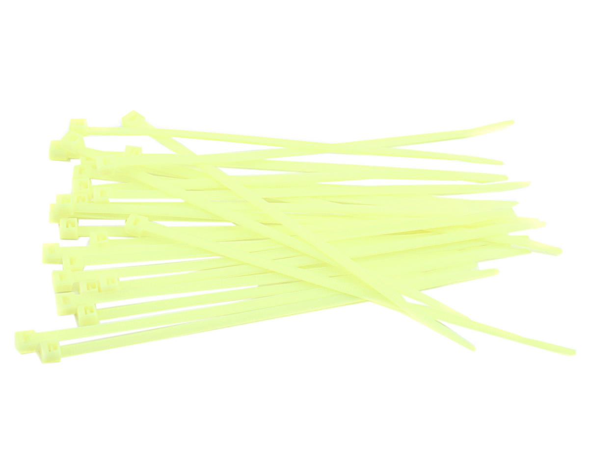 "7.5"" Yellow Zip Tie Wraps (25) by Racers Edge"