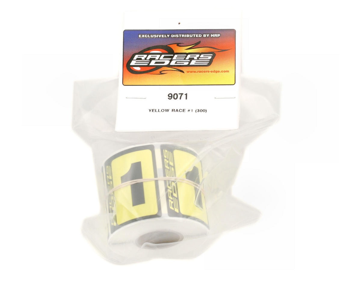 Racers Edge #1 Race Car Numbers (Black/Yellow)