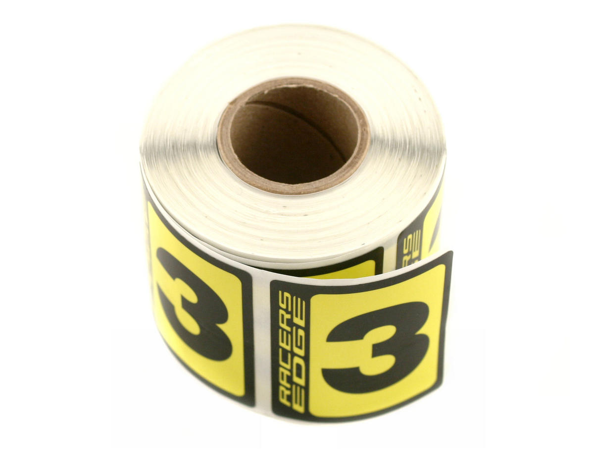 Racers Edge #3 Race Car Numbers  (Black/Yellow)