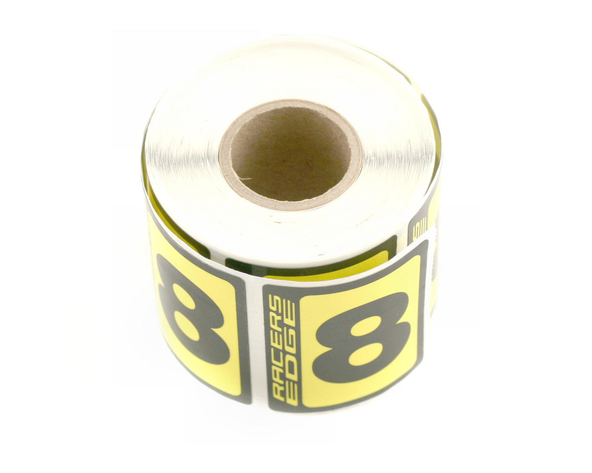 Racers Edge #8 Race Car Numbers (Black/Yellow)