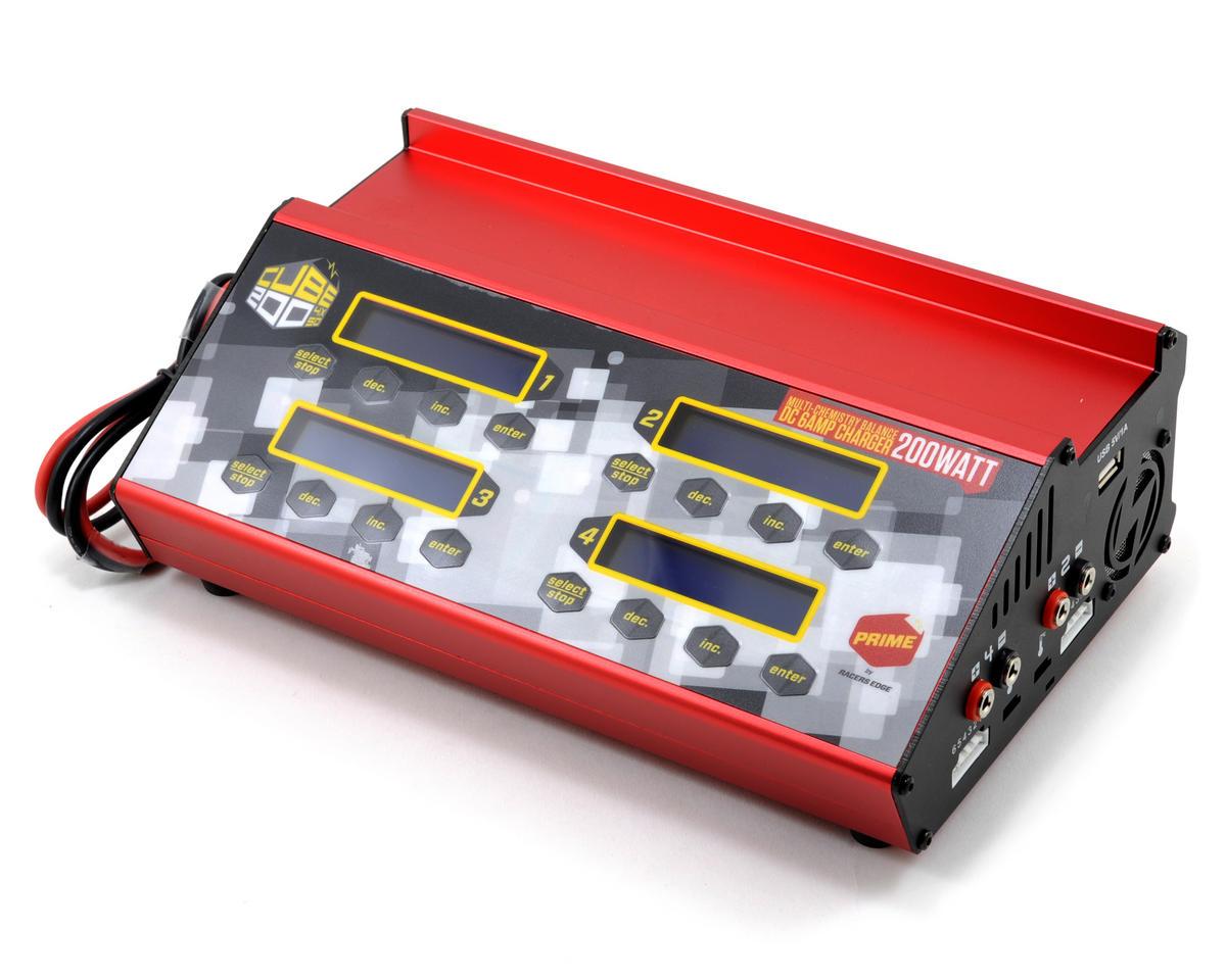 Racers Edge PRIME CUBE200 4-Port DC Multi-Chemistry Balance Charger w/Aluminum Case(6S/6A/50Wx4)