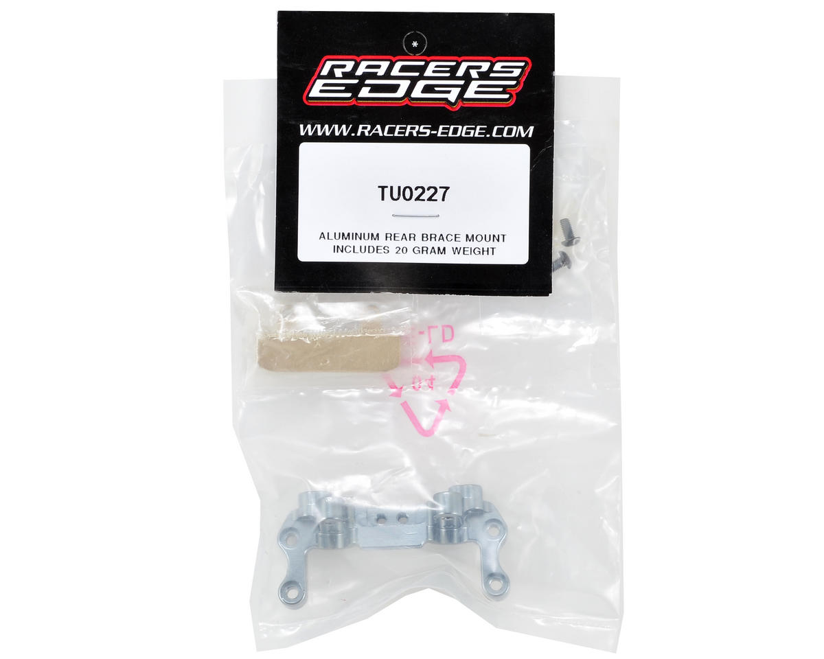 Aluminum Rear Brace Mount w/20g Weight by Racers Edge
