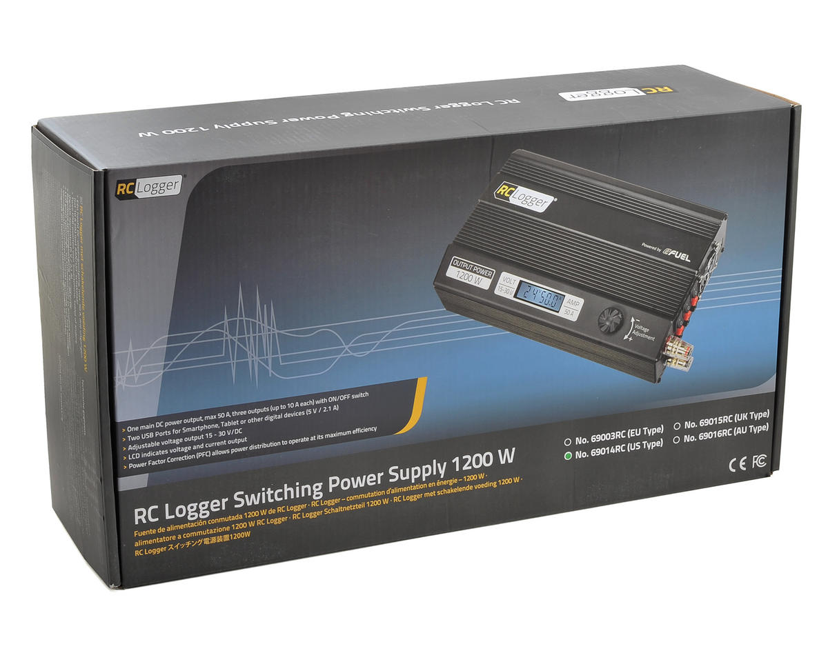 RC Logger 1200W Switching Power Supply (15-30V/50A/1200W)