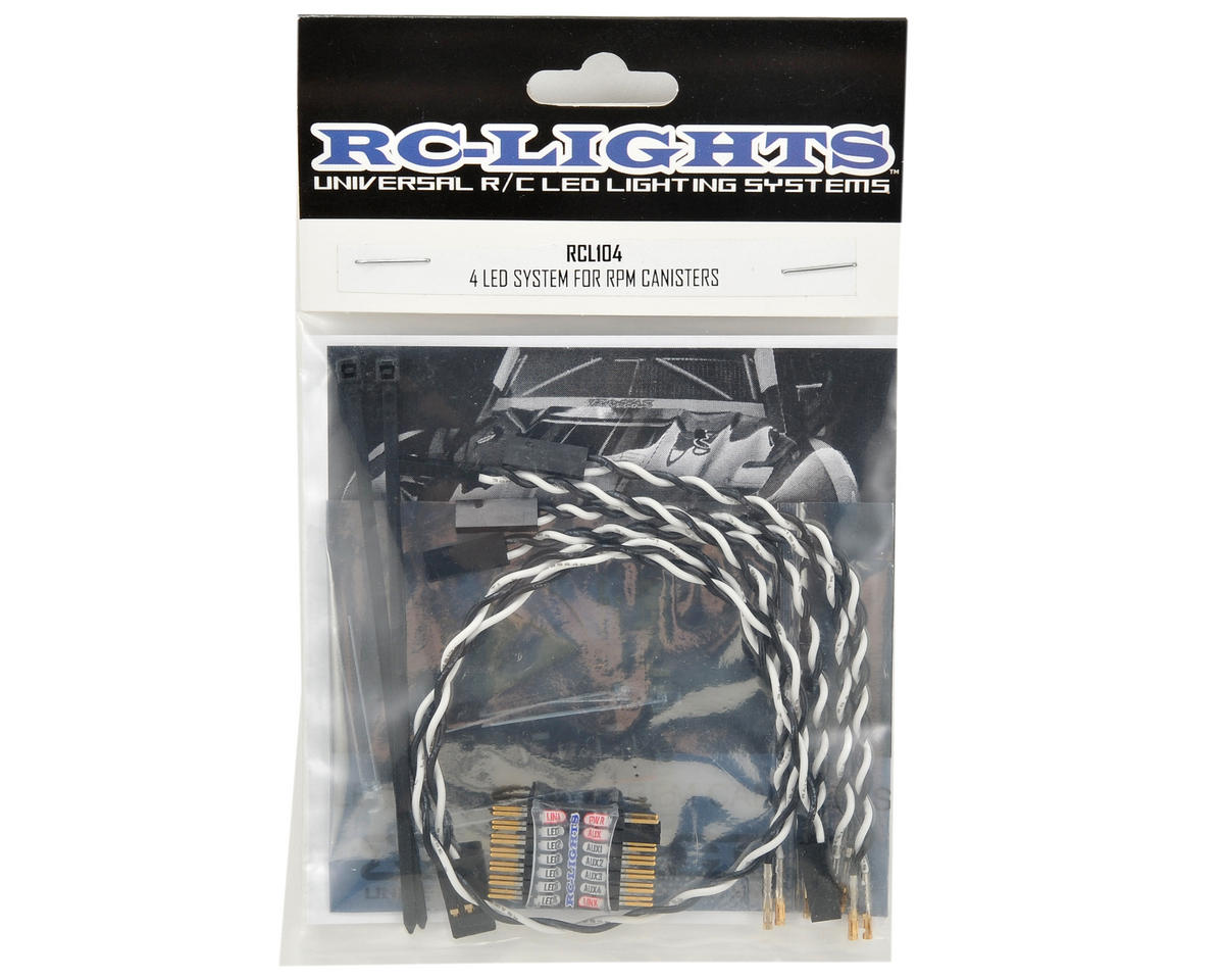 RC Lights 3mm 4-LED Light System (RPM Front & Roof Canisters)