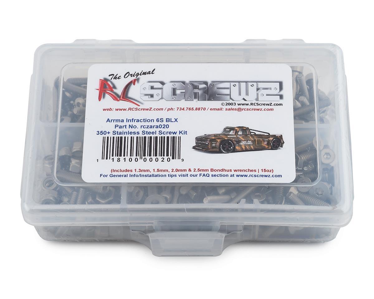 RC Screwz Arrma RC Infraction 6S BLX Stainless Steel Screw Kit