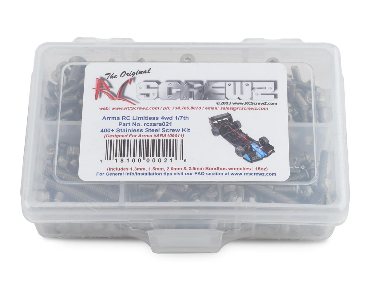 RC Screwz Arrma Limitless 1/7th Stainless Steel Screw Kit
