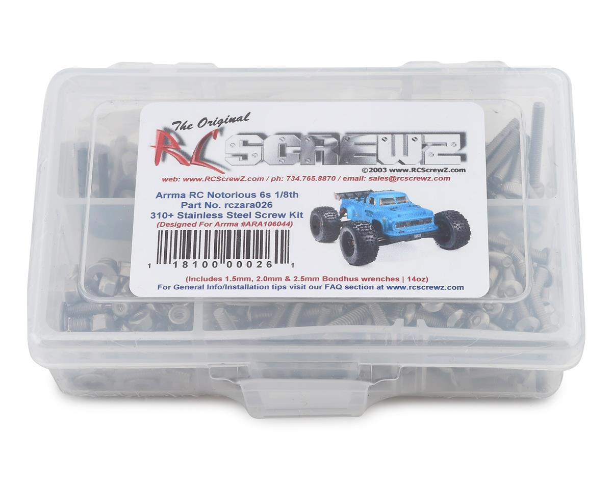 RC Screwz Arrma Notorious 6S Stainless Steel Screw Kit