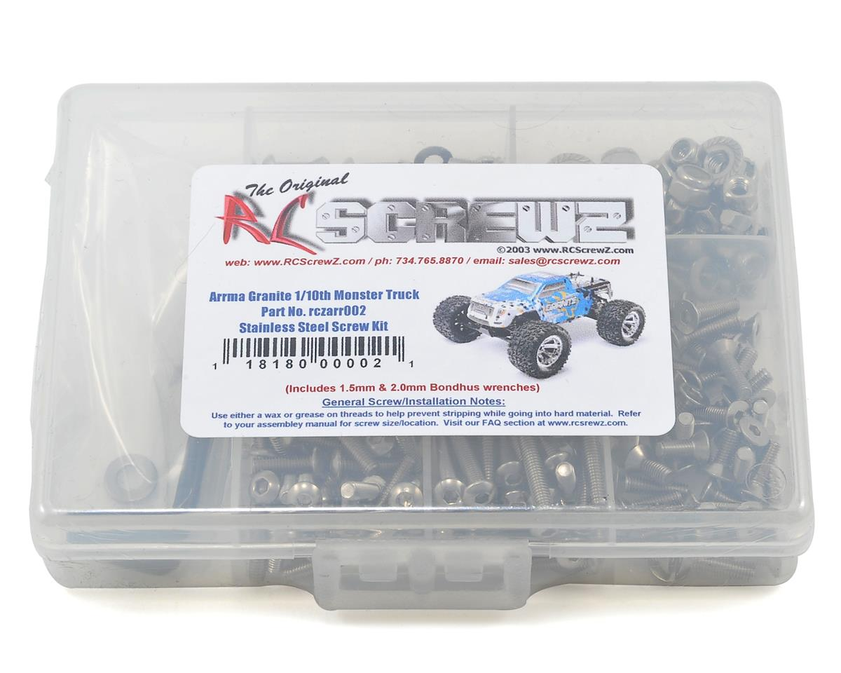 RC Screwz Arrma RC Granite BL 1/10th Monster Truck Stainless Steel Screw Kit