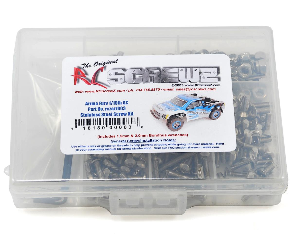 RC Screwz Arrma Fury 1/10th Short Course Stainless Steel Screw Kit
