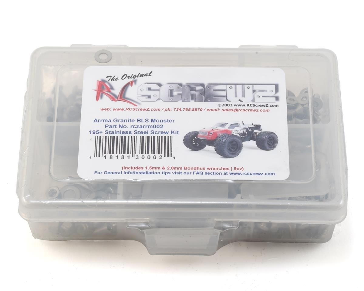 RC Screwz Arrma RC Granite Stainless Steel Screw Kit