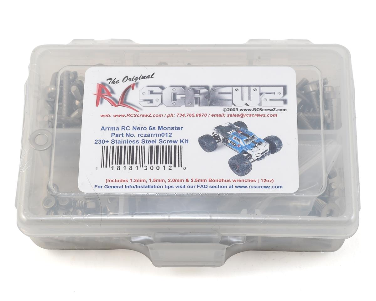 RC Screwz Arrma Nero 6S BLX Monster Stainless Screw Kit