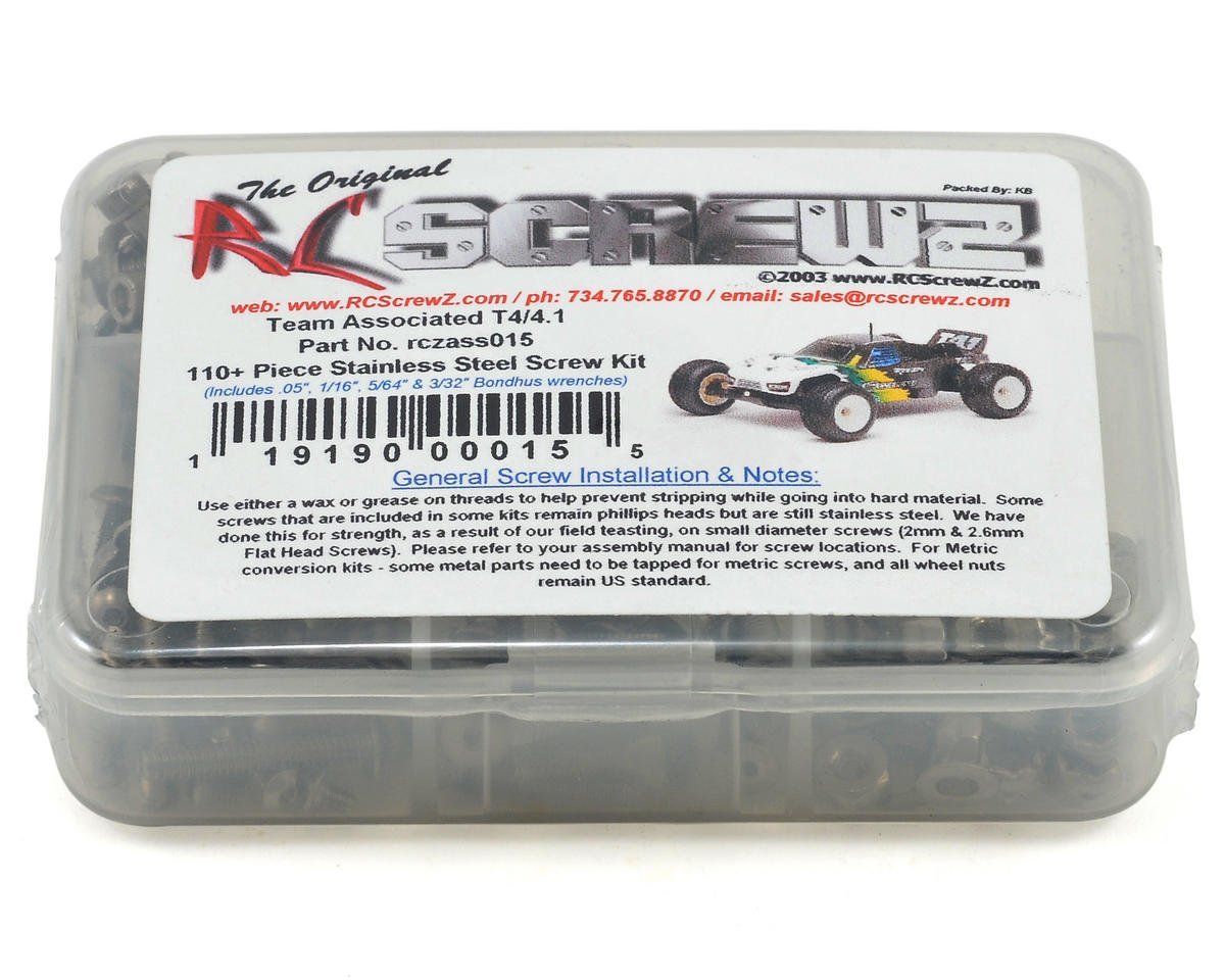 T4/T4.1 Stainless Steel Screw Kit by RC Screwz