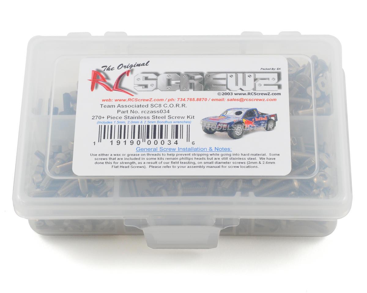RC Screwz Associated SC8 C.O.R.R. Stainless Steel  Screw Kit