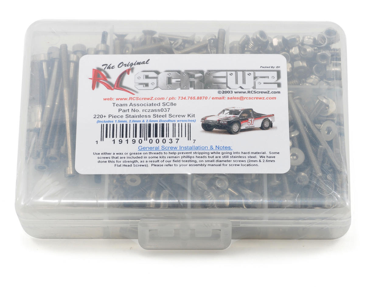 RC Screwz Associated SC8e Stainless Steel Screw Kit