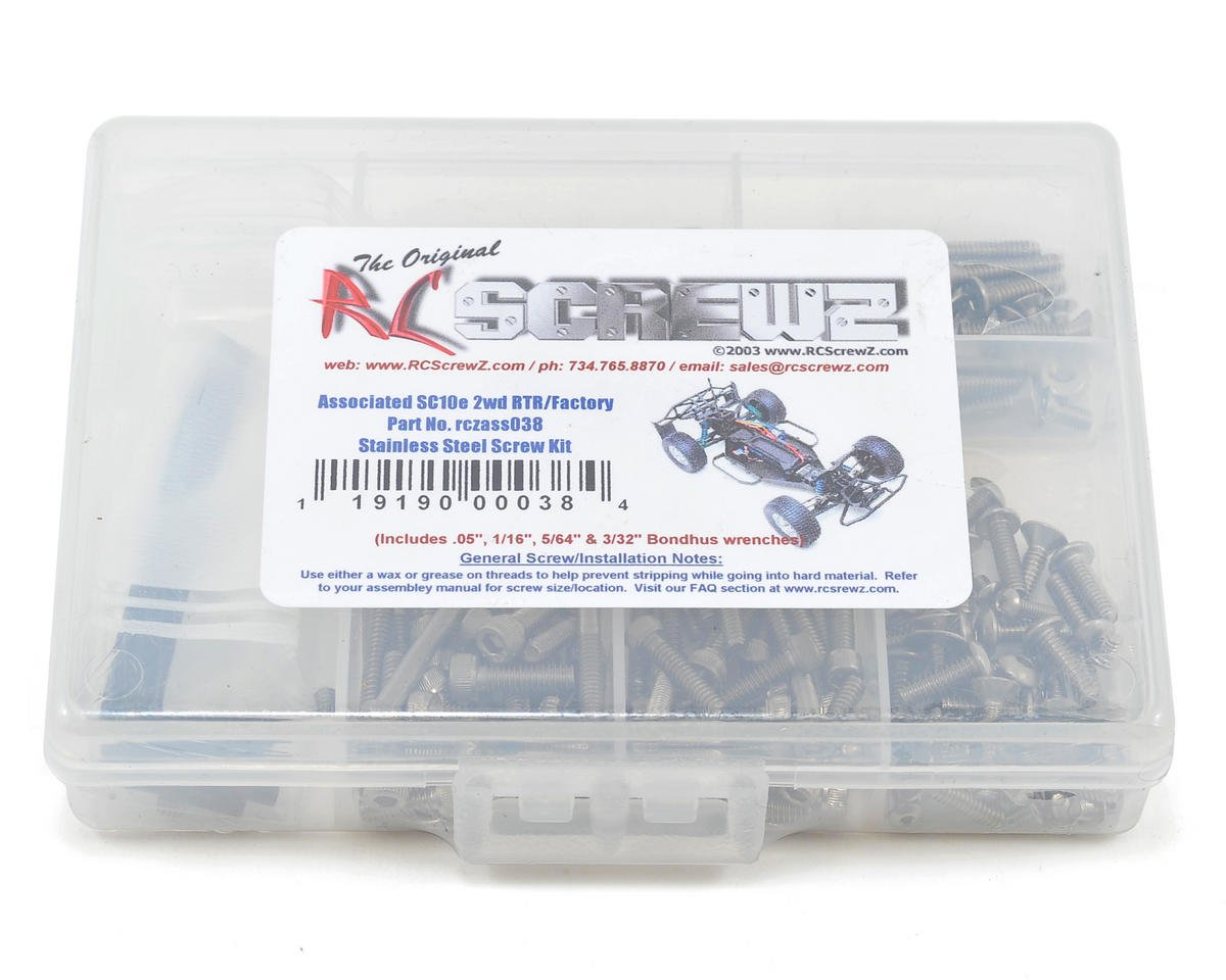 RC Screwz Associated SC10/SC10.2 Stainless Steel Screw Kit
