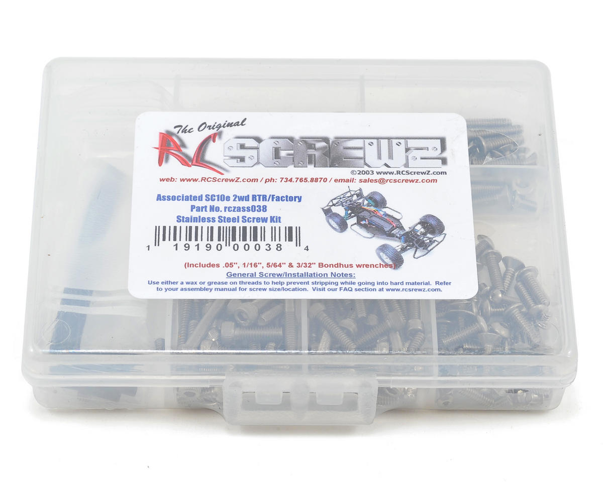 Associated SC10/SC10.2 Stainless Steel Screw Kit by RC Screwz