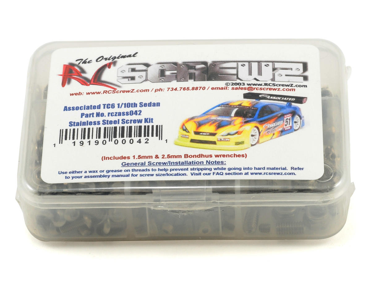 RC Screwz Associated TC6 Stainless Screw Kit (Team TC6.1)