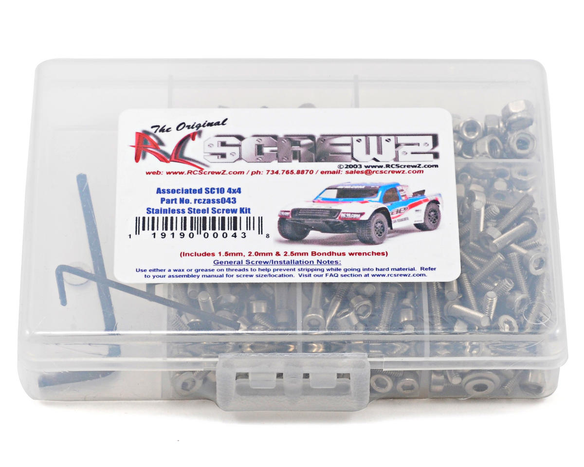 RC Screwz Associated SC10 4x4 Stainless Steel Screw Kit