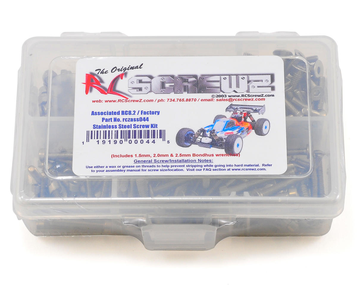 RC Screwz Associated RC8.2 Stainless Steel Screw Kit