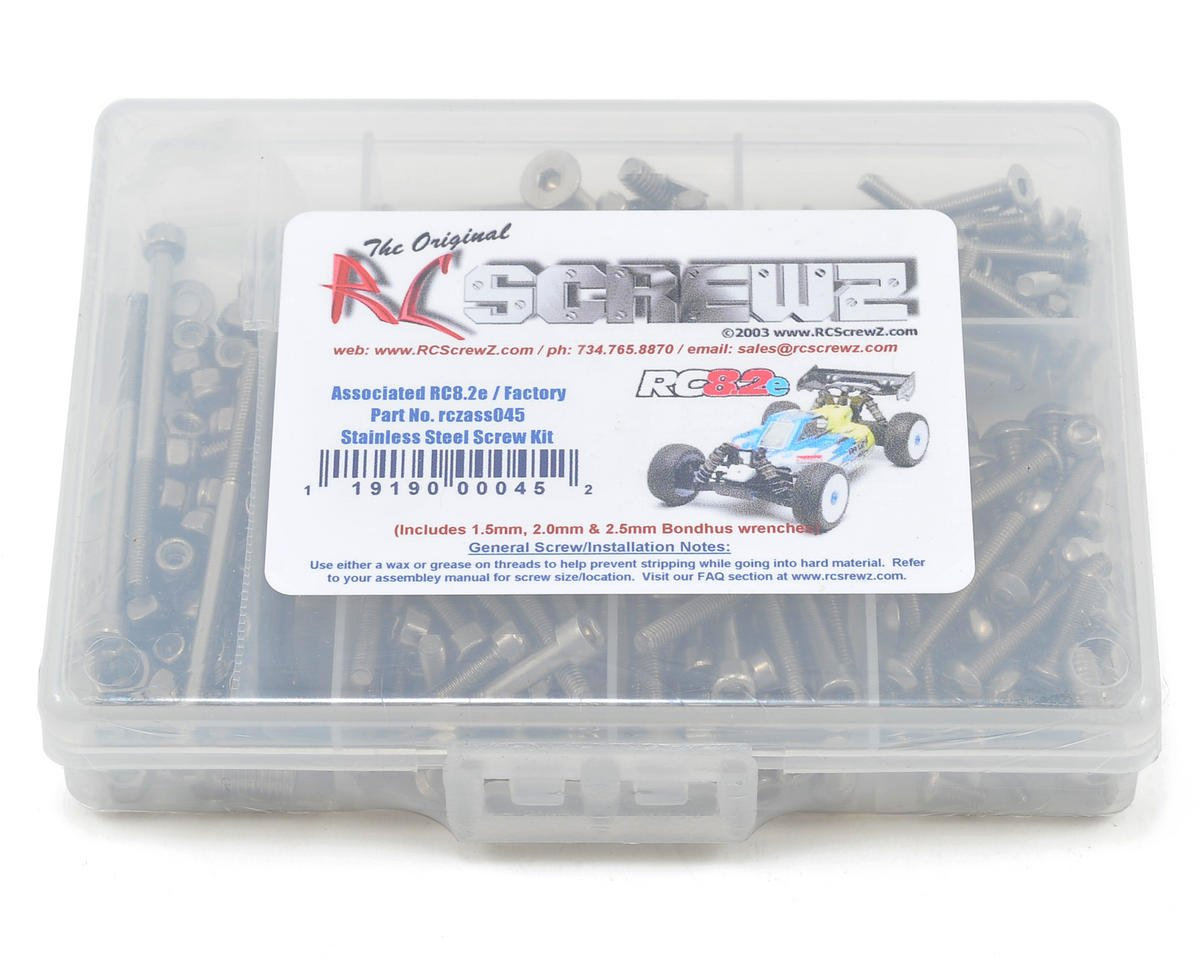 RC Screwz Associated Team RC8.2e Stainless Steel Screw Kit