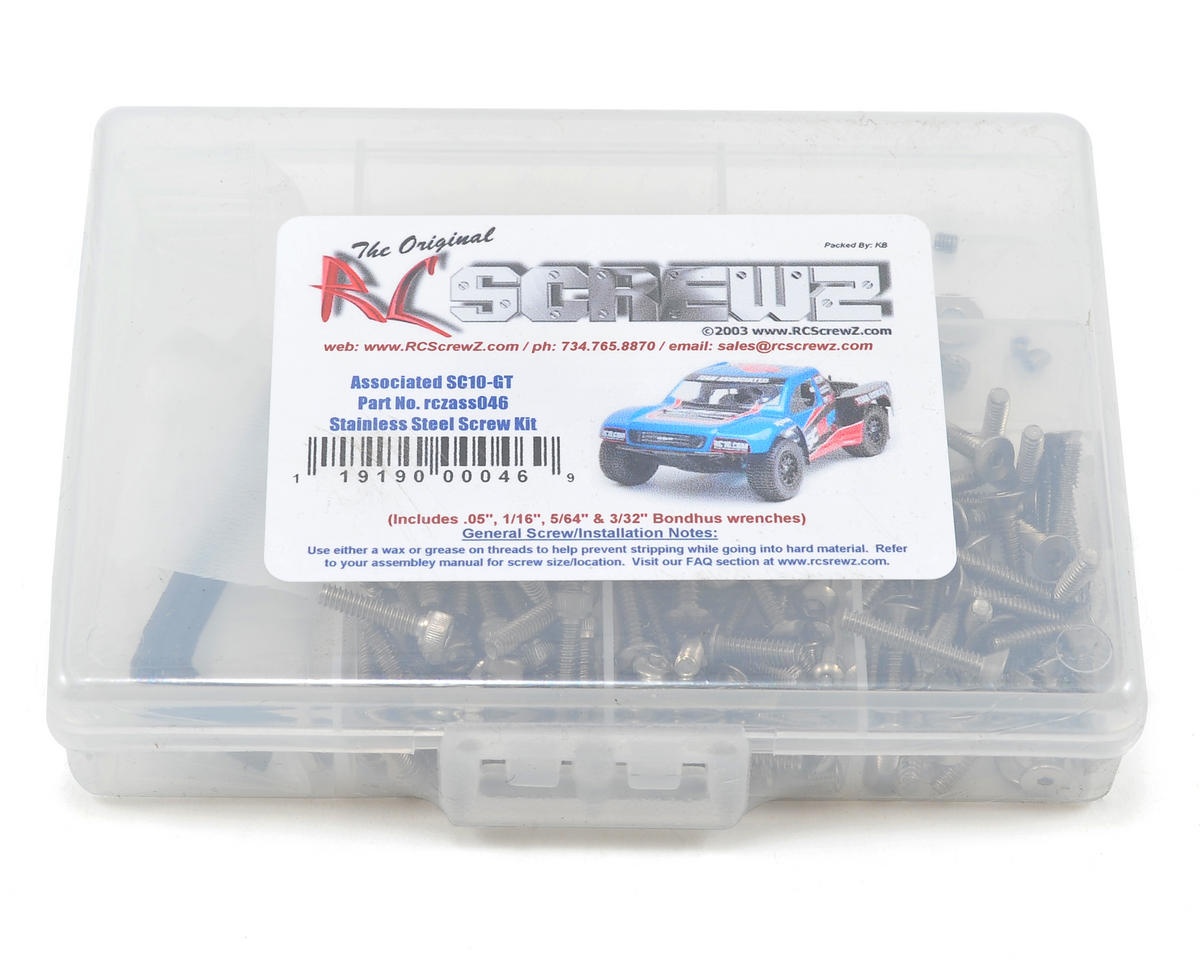 RC Screwz Associated SC10GT Stainless Steel Screw Kit
