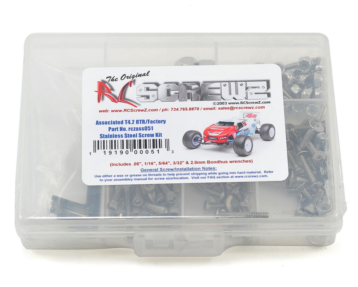 T4.2 Stainless Steel Screw Kit by RC Screwz