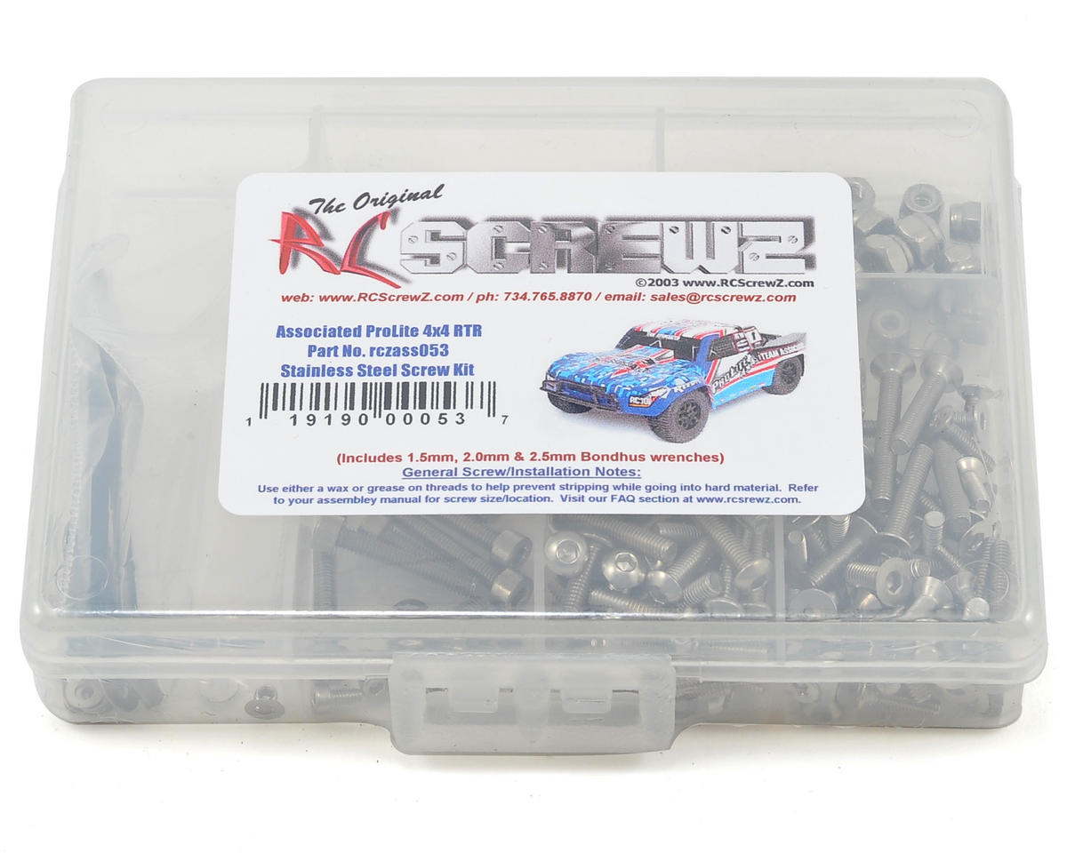 RC Screwz Associated Pro-Lite 4x4 Stainless Steel Screw Kit