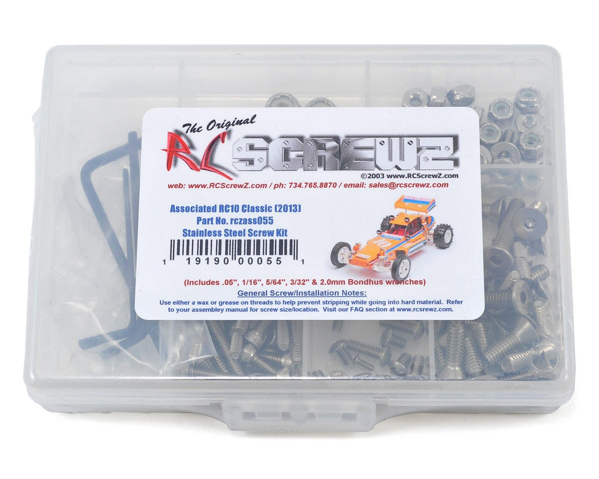 Associated RC10 Classic Stainless Steel Screw Kit by RC Screwz