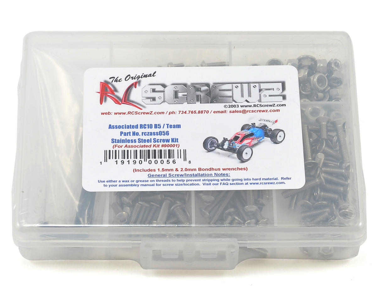 Associated B5 Buggy Stainless Steel Screw Kit by RC Screwz