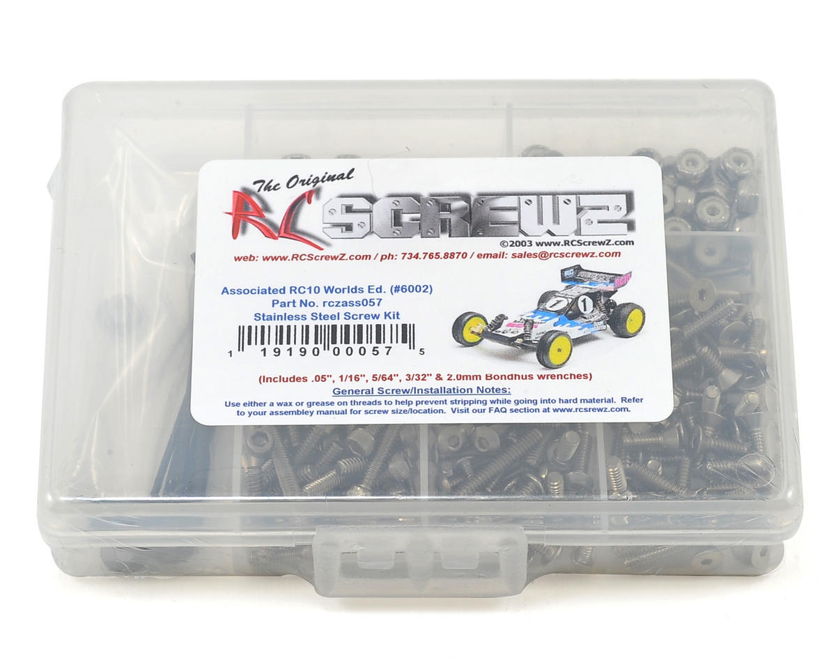 RC Screwz Associated RC10 Worlds Stainless Steel Screw Kit