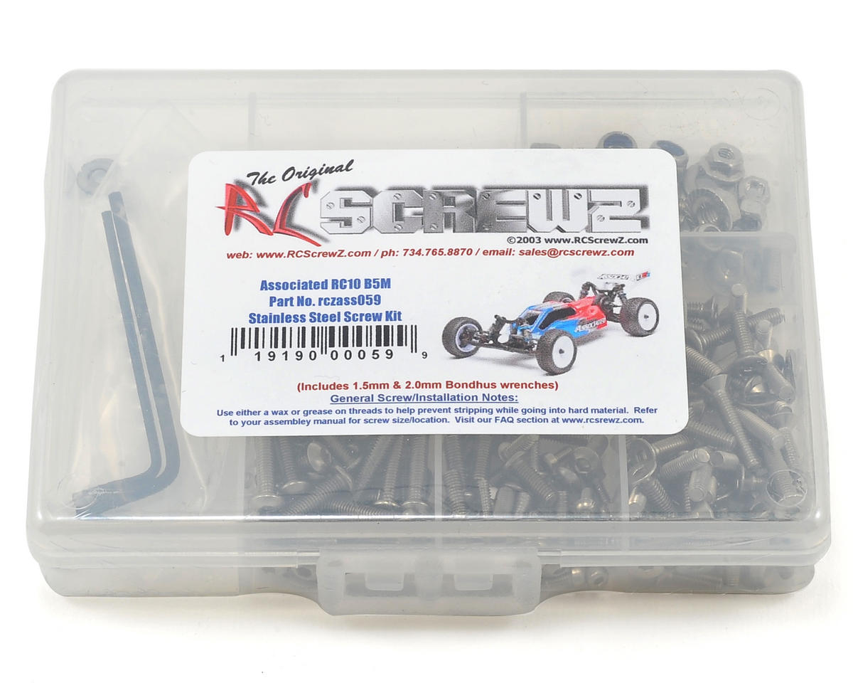 RC Screwz B5M Stainless Steel Screw Kit