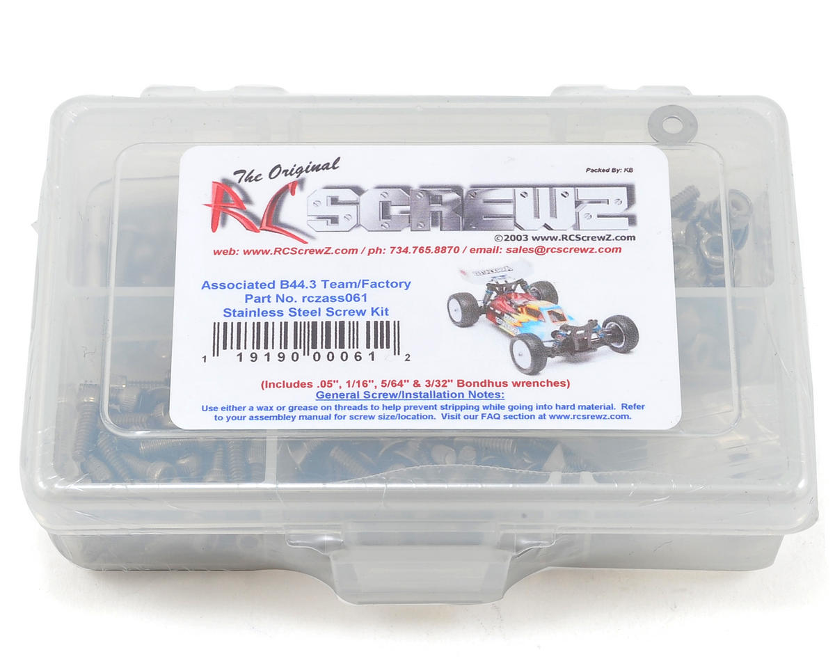 RC Screwz B44.3 Stainless Steel Screw Kit | relatedproducts