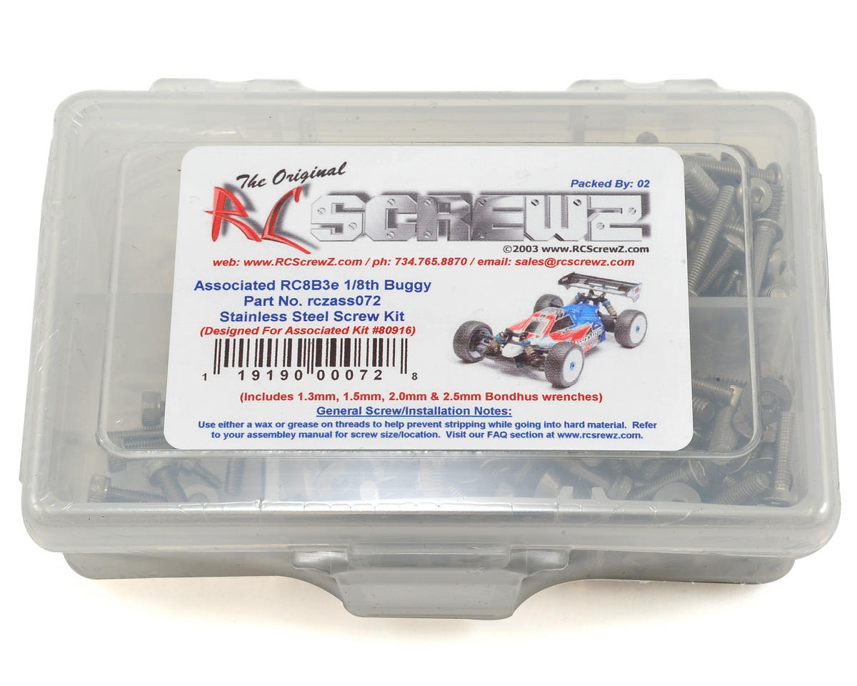 RC Screwz Associated RC8B3e Stainless Steel Screw Kit