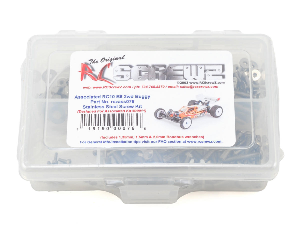 Team Associated RC10 B6 Stainless Steel Screw Kit by RC Screwz