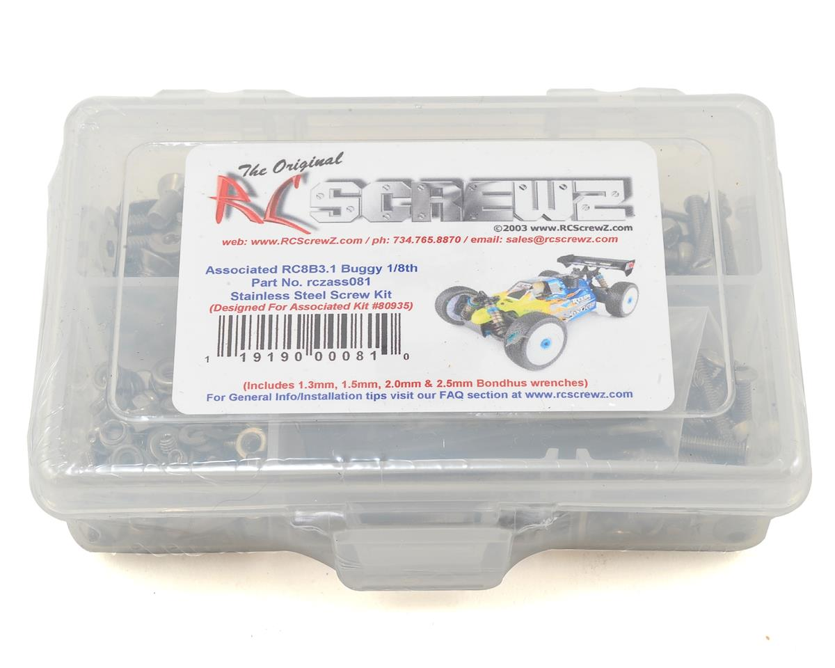 RC Screwz Associated RC8B3.1 Stainless Steel Screw Kit