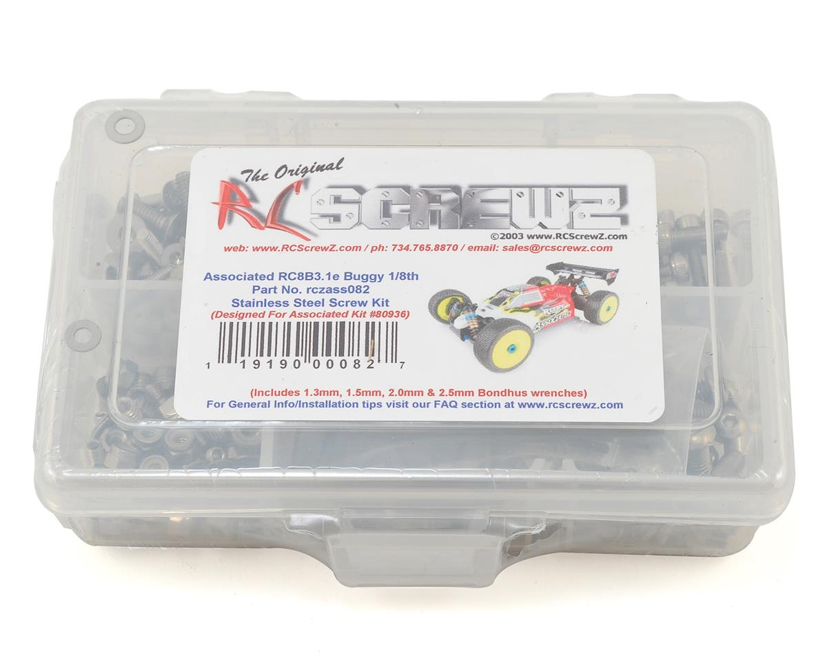 RC Screwz Associated RC8B3.1e Stainless Steel Screw Kit